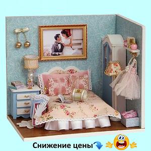 """Будиночок """"Верона - Спальня"""" - Конструктор для дітей з дерева, ляльковий будиночок, модель будиночка ручної збірки"""