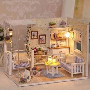 """Будиночок """"Веранда"""" - Конструктор для дітей з дерева, ляльковий будиночок, модель будиночка ручної збірки"""