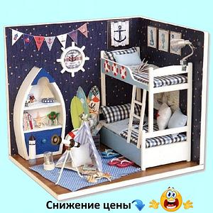 """Будиночок """"Моряк"""" - Конструктор для дітей з дерева, ляльковий будиночок, модель будиночка ручної збірки"""
