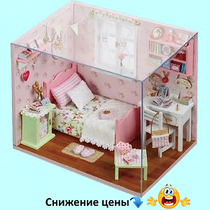 """Будиночок """"Красуня"""" - Конструктор для дітей з дерева, ляльковий будиночок, модель будиночка ручної збірки"""