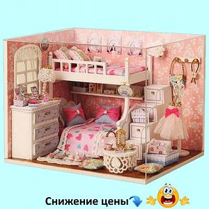 """Будиночок """"Лола"""" - Конструктор для дітей з дерева, ляльковий будиночок, модель будиночка ручної збірки"""