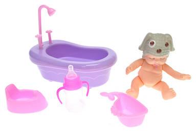 Пупс с ванночкой в сетке