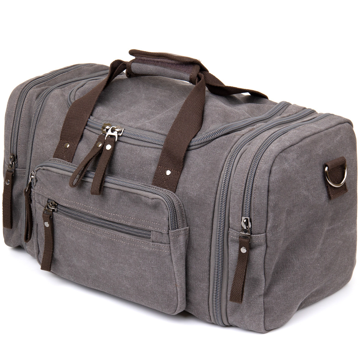 Дорожня сумка текстильна Vintage 20665 Сіра
