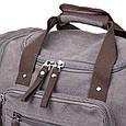 Дорожня сумка текстильна Vintage 20665 Сіра, фото 3