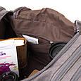Дорожная сумка текстильная Vintage 20665 Серая, фото 4