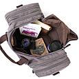 Дорожная сумка текстильная Vintage 20665 Серая, фото 5