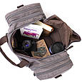 Дорожня сумка текстильна Vintage 20665 Сіра, фото 5