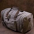 Дорожная сумка текстильная Vintage 20665 Серая, фото 6