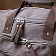 Дорожня сумка текстильна Vintage 20665 Сіра, фото 8