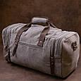Дорожня сумка текстильна Vintage 20665 Сіра, фото 9