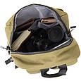 Рюкзак текстильный smart унисекс Vintage 20623 Оливковый, фото 3