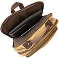 Рюкзак текстильный дорожный унисекс на два отделения Vintage 20616 Бежевый, фото 4