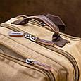 Рюкзак текстильный дорожный унисекс на два отделения Vintage 20616 Бежевый, фото 7