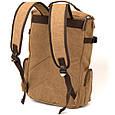 Рюкзак текстильний дорожній унісекс з ручками Vintage 20664 Пісочний, фото 2