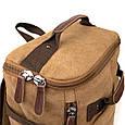 Рюкзак текстильний дорожній унісекс з ручками Vintage 20664 Пісочний, фото 3