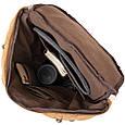 Рюкзак текстильний дорожній унісекс з ручками Vintage 20664 Пісочний, фото 4