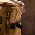 Рюкзак текстильний дорожній унісекс з ручками Vintage 20664 Пісочний, фото 8