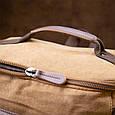 Рюкзак текстильний дорожній унісекс з ручками Vintage 20664 Пісочний, фото 9