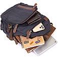 Рюкзак текстильный унисекс Vintage 20600 Черный, фото 6
