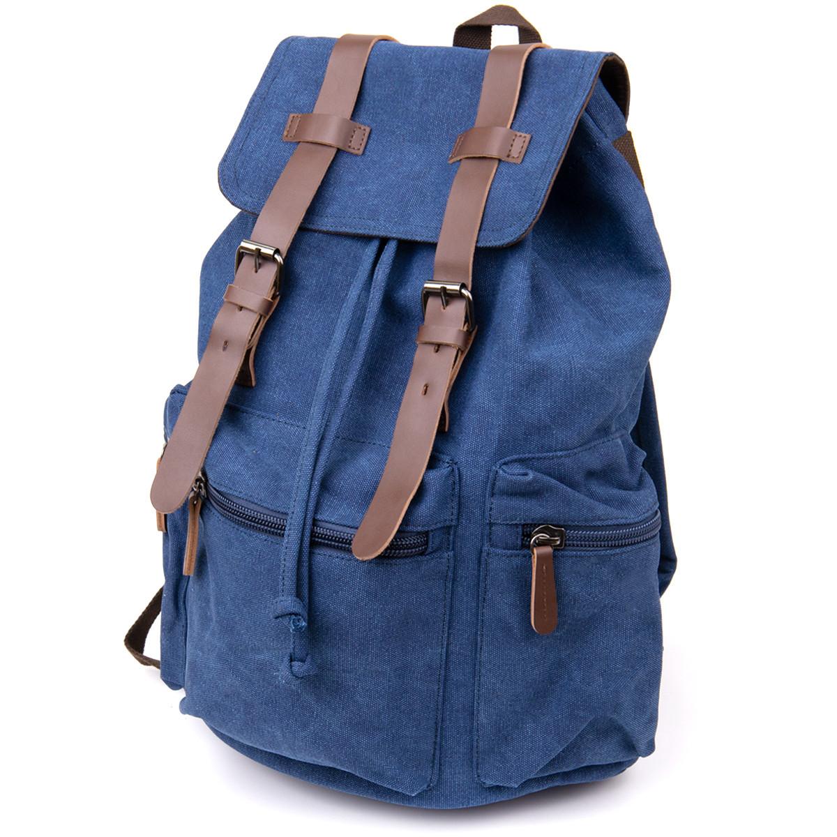 Рюкзак туристичний текстильний унісекс Vintage 20609 Синій