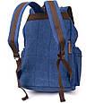 Рюкзак туристичний текстильний унісекс Vintage 20609 Синій, фото 2
