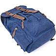 Рюкзак туристичний текстильний унісекс Vintage 20609 Синій, фото 4