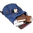 Рюкзак туристичний текстильний унісекс Vintage 20609 Синій, фото 6