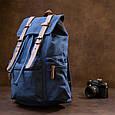 Рюкзак туристичний текстильний унісекс Vintage 20609 Синій, фото 7