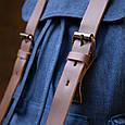 Рюкзак туристичний текстильний унісекс Vintage 20609 Синій, фото 8