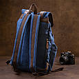 Рюкзак туристичний текстильний унісекс Vintage 20609 Синій, фото 9