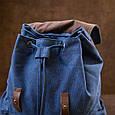 Рюкзак туристичний текстильний унісекс Vintage 20609 Синій, фото 10