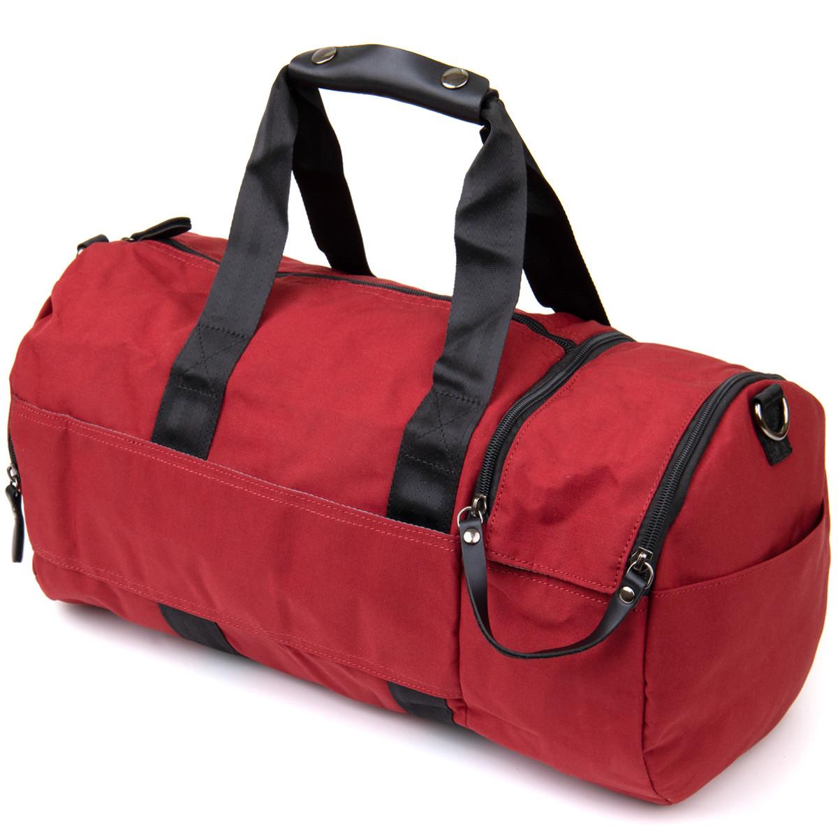 Спортивна сумка текстильна Vintage 20642 Малинова