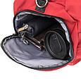 Спортивна сумка текстильна Vintage 20642 Малинова, фото 4