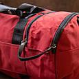 Спортивна сумка текстильна Vintage 20642 Малинова, фото 8