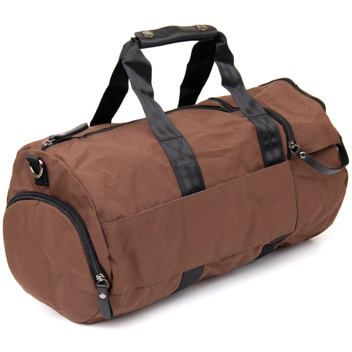 Спортивная сумка текстильная Vintage 20643 Коричневая