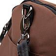 Спортивная сумка текстильная Vintage 20643 Коричневая, фото 4