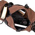 Спортивная сумка текстильная Vintage 20643 Коричневая, фото 5