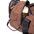Спортивная сумка текстильная Vintage 20643 Коричневая, фото 6