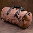 Спортивная сумка текстильная Vintage 20643 Коричневая, фото 8