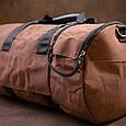 Спортивная сумка текстильная Vintage 20643 Коричневая, фото 9