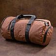 Спортивная сумка текстильная Vintage 20643 Коричневая, фото 10