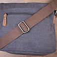 Сумка почтальонка текстильна Vintage 20604 Чорна, фото 9