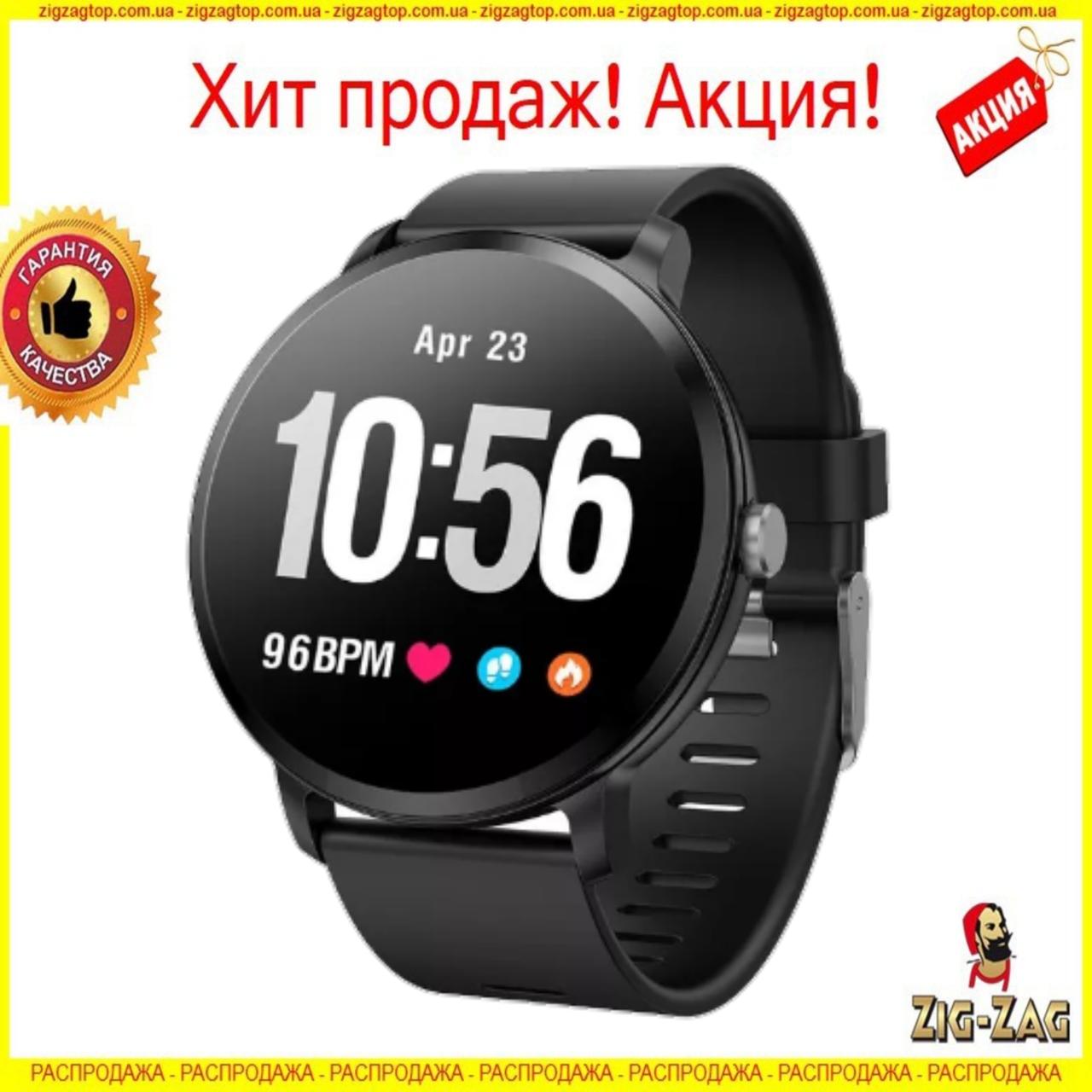 Smart Watch годинник V11, Фітнес годинник з IPS дисплеєм, тонометр, пульсометр, крокомір Чорні
