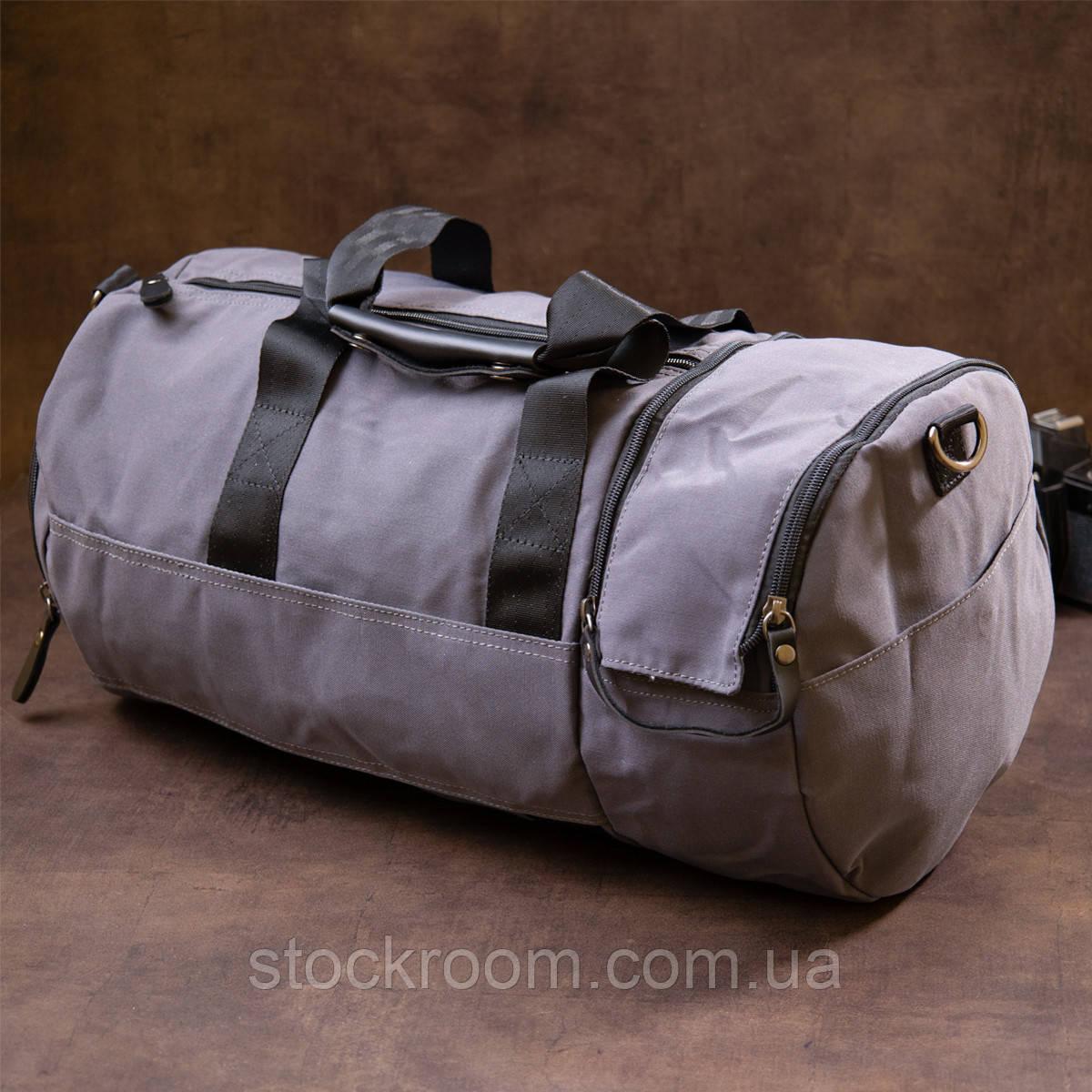 Спортивная сумка текстильная Vintage 20641 Серая