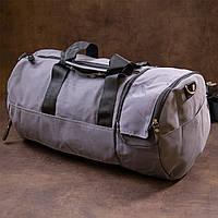 Спортивная сумка текстильная Vintage 20641 Серая, фото 1
