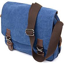 Сумка почтальонка текстильна Vintage 20606 Синя