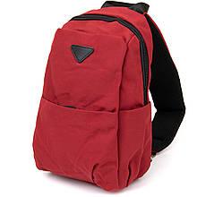Сумка через плече нейлон Vintage 20629 Червона