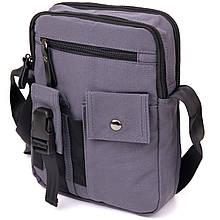 Універсальна чоловіча текстильна сумка на два відділення Vintage 20659 Графітова
