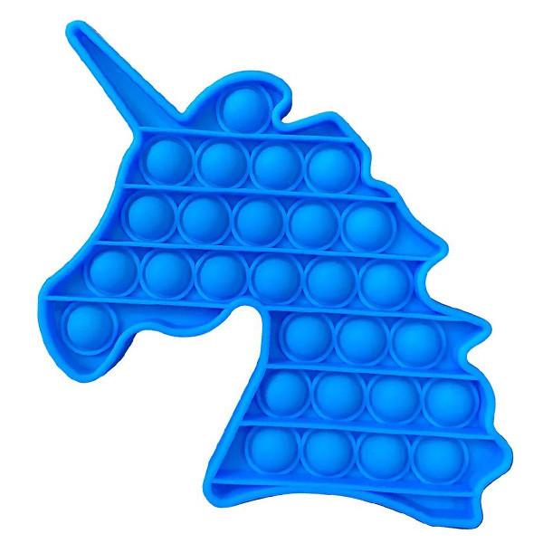 Опт Pop It Антистрес Іграшка - (Поп Іт - Попит - Popit) - Світло-синій Єдиноріг