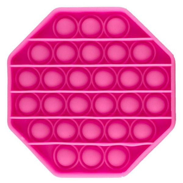 Опт Pop It Антистресс Игрушка - (Поп Ит - Попит - Popit) - Розовый восьмиугольник